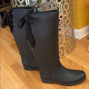 Coach knee length  black winter boots sz 7